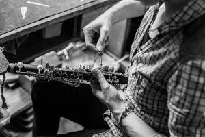Démontage d'une clarinette en Mib