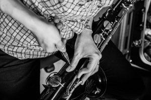 Démontage d'un saxophone ténor