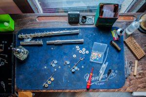 Préparation pour une remise en état d'une flûte Sankyo